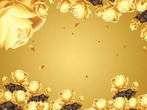 Tranh 3D hiện đại Hoa hồng vàng