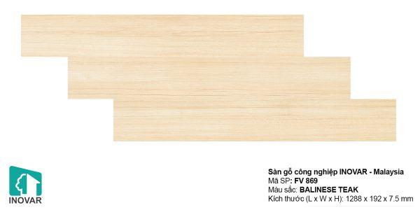 Sàn gỗ Inovar FV869 dày 7.5mm