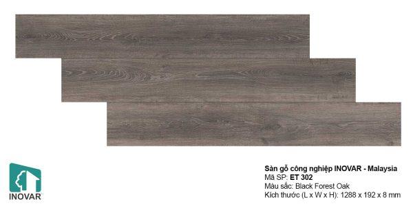 Sàn gỗ Inovar Elite ET302 dày 8mm hèm V