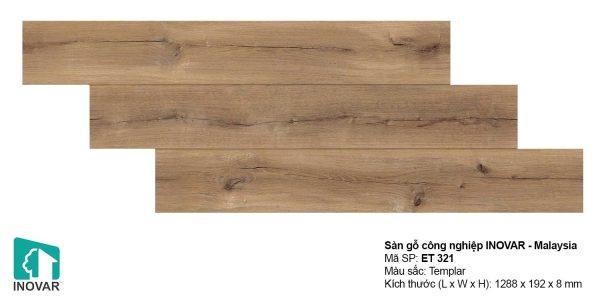 Sàn gỗ Inovar Elite ET321 dày 8mm hèm V