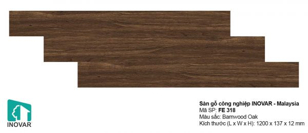 Sàn gỗ Inovar FE318 dày 12mm khe U