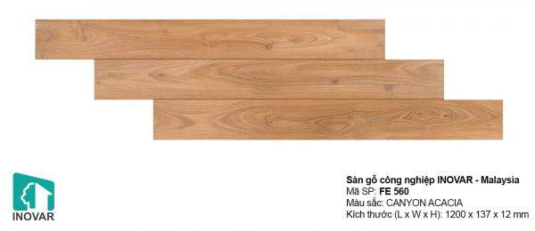 Sàn gỗ Inovar FE560 dày 12mm khe U