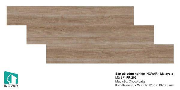 Sàn gỗ Inovar FR202 dày 8mm