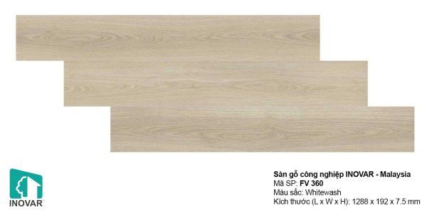 Sàn gỗ Inovar FV360 dày 7.5mm