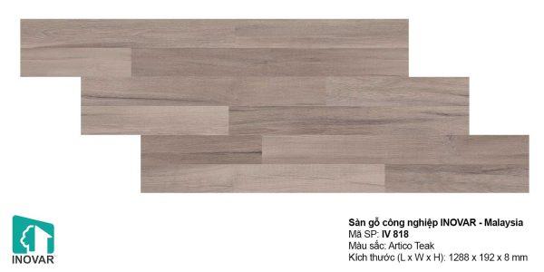 Sàn gỗ Inovar IV818 dày 8mm