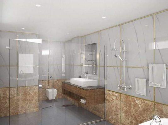Tấm PVC vân đá ốp nhà tắm