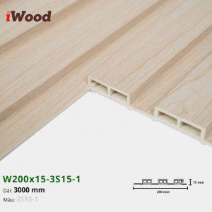 Tấm ốp tường trần 3 sóng iWood 3S15-1