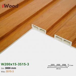 Tấm ốp tường trần 3 sóng iWood 3S15-3