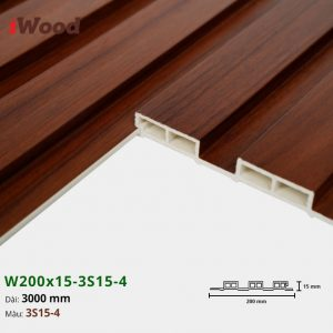 Tấm ốp tường trần 3 sóng iWood 3S15-4