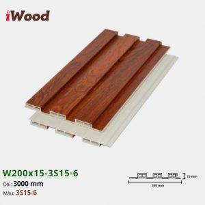 Tấm ốp tường trần 3 sóng iWood 3S15-6