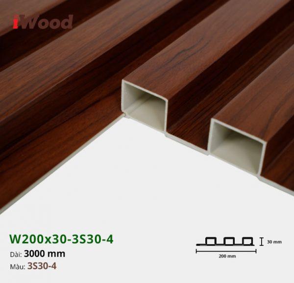 Tấm ốp tường trần 3 sóng iWood 3S30-4