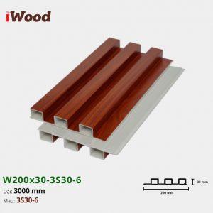 Tấm ốp tường trần 3 sóng iWood 3S30-6