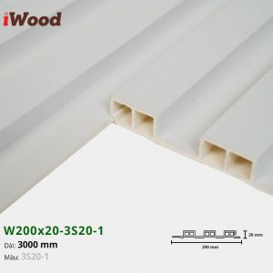 Tấm ốp tường trần 3 sóng iWood 3S20-1
