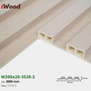 Tấm ốp tường trần 3 sóng iWood 3S20-2