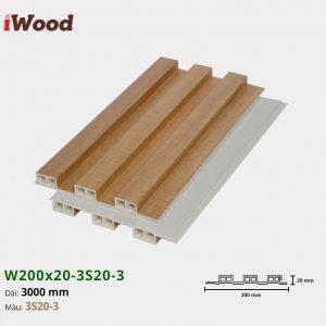 Tấm ốp tường trần 3 sóng iWood 3S20-3